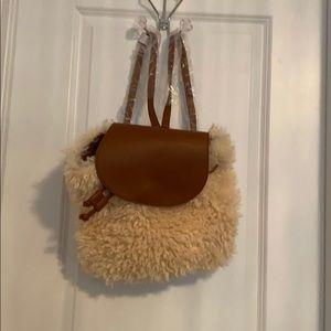 Handbags - Faux Sherpa Backpack brand New